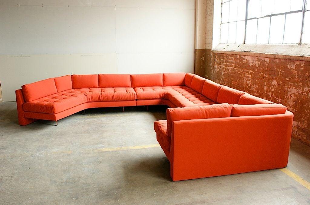 American Vladimir Kagan three piece Omibus sofa sectional For Sale