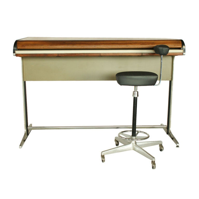 George Nelson Action Office Tambour Desk And Perch Chair