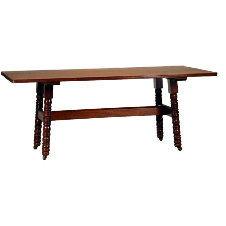 ... Charles Webb Furniture By A Library Table By Philip Webb For Morris And  Company At ...