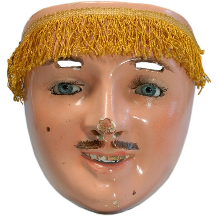 Superb Vintage Mexican Paragueros Mask Tlaxcala At 1stdibs
