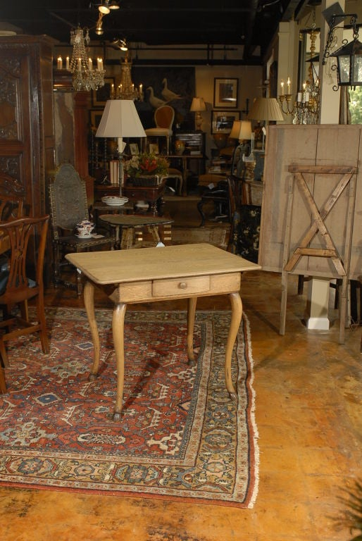 English Table With Cabriole Legs And Hoof Feet At 1stdibs