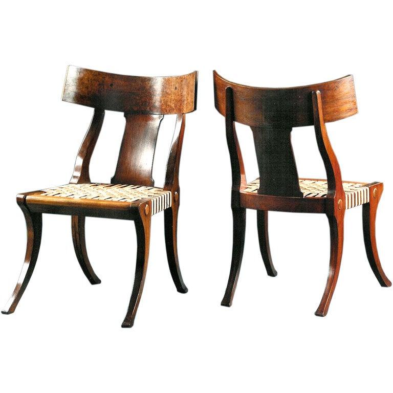 Restaurant Furniture Greece : Klismos chair for sale at stdibs