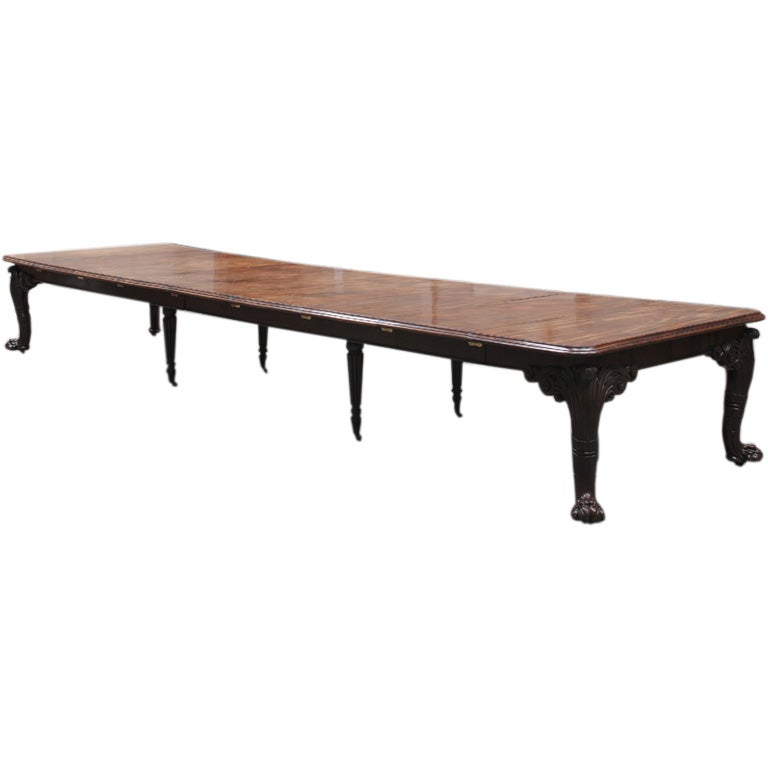 A Very Fine Extending Mahogany Dining Table At 1stdibs