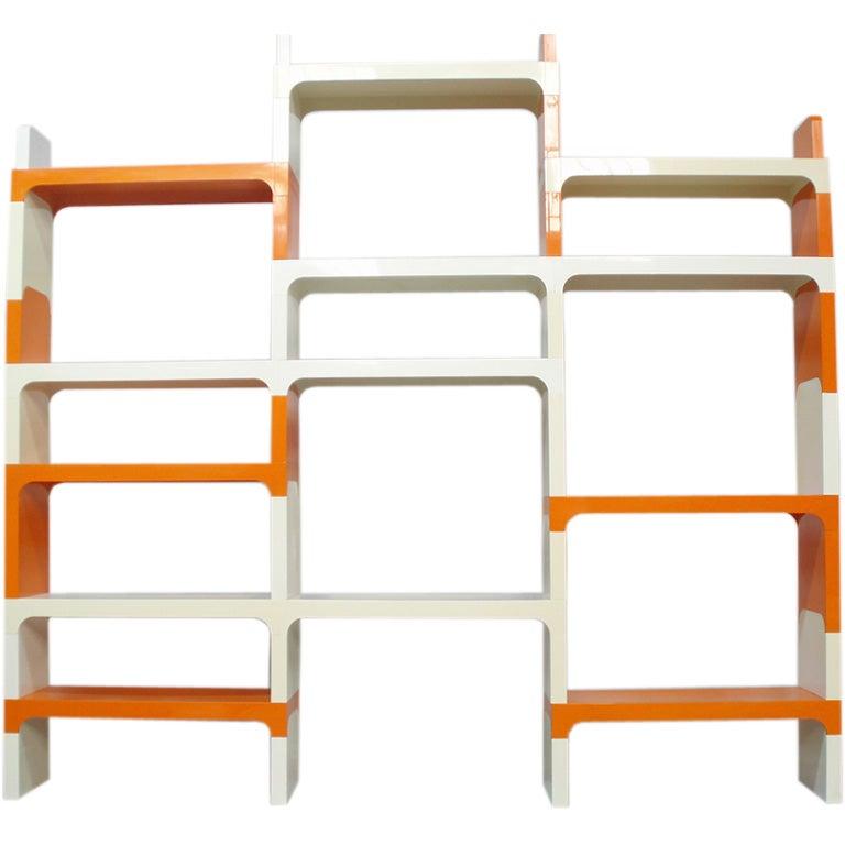Modular Plastic Shelves by Olaf Von Bohr for Kartell