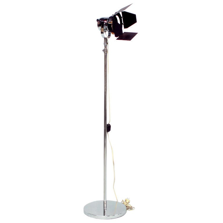 An Adjustable Height Industrial Lamp at 1stdibs