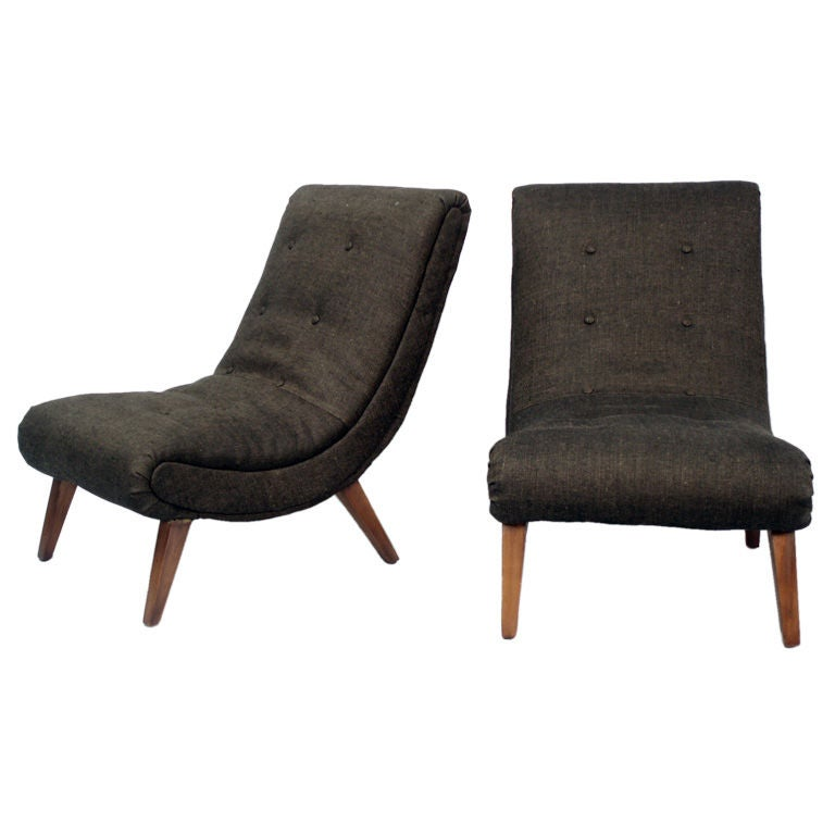 A Pair of Mid Century Lounge Chairs at 1stdibs