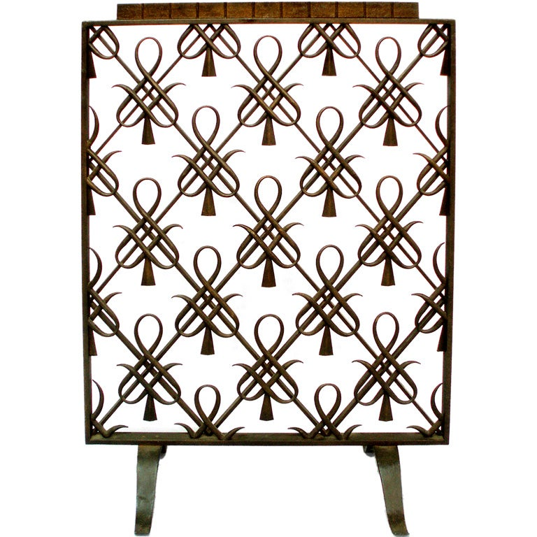 A French Art Deco Fire Screen Attributed To Raymond Subes At 1stdibs
