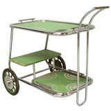 Art Deco Drinks Cart Attributed to Wolfgang Hoffmann