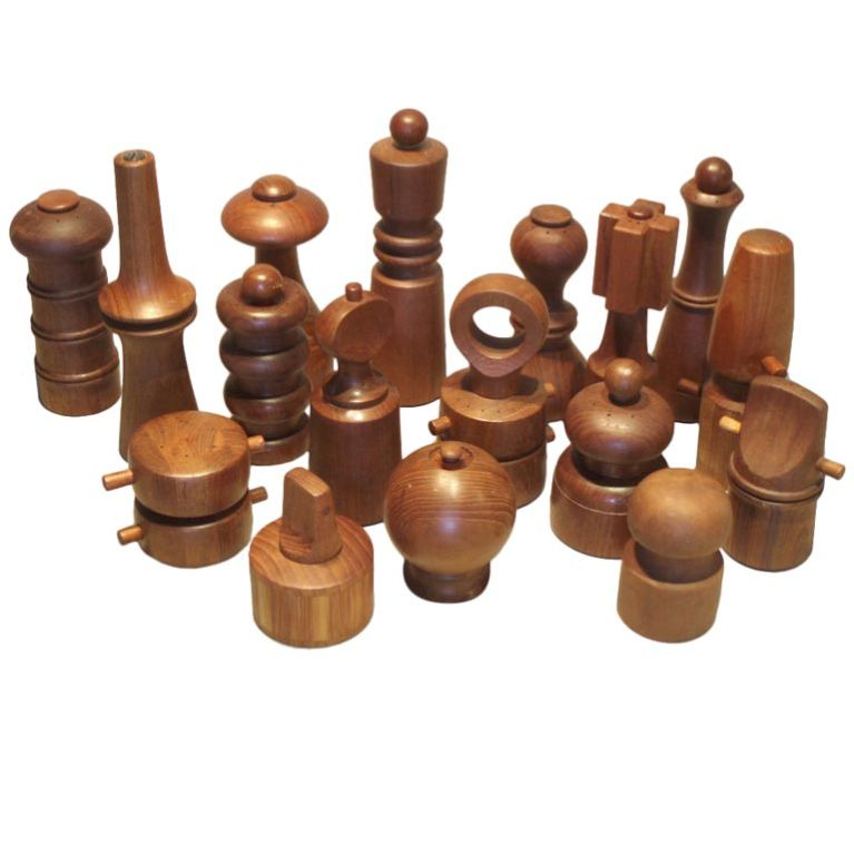 Large Collection of Teak Pepper Mills by Jens Quistgaard