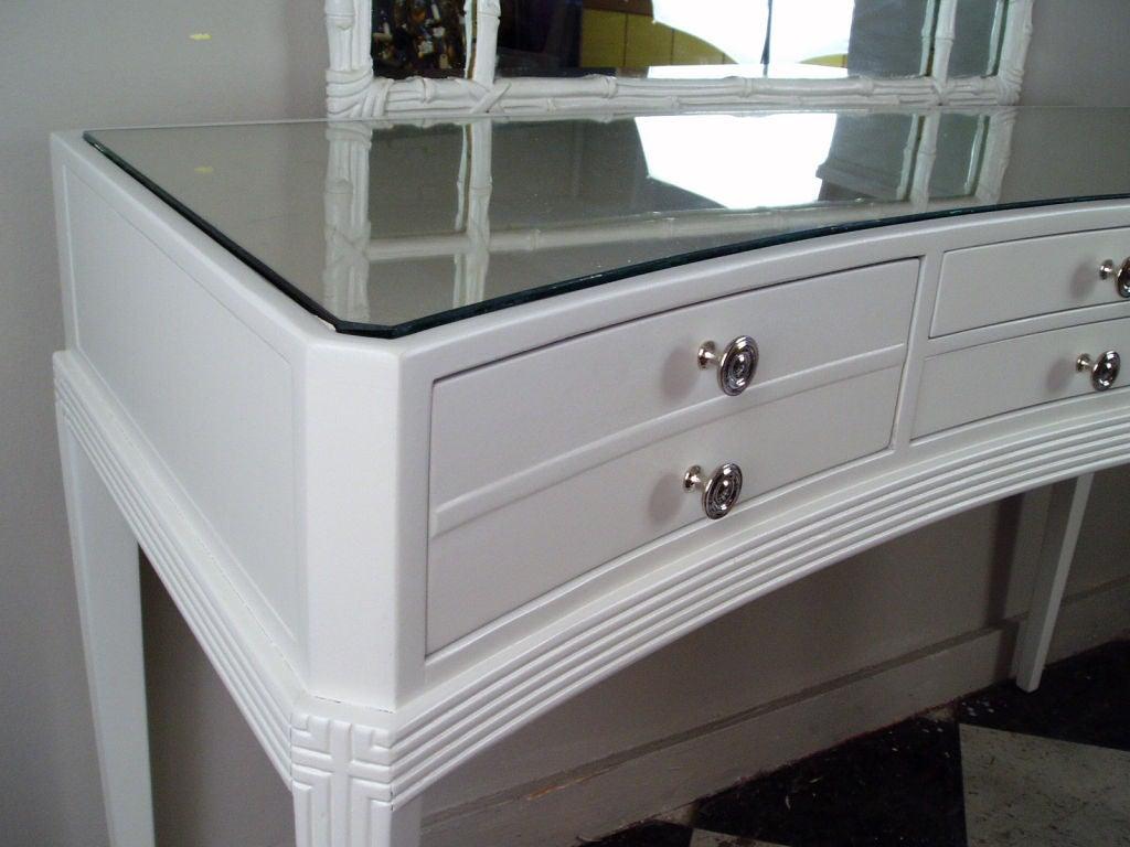 A Curved 4 Drawer Vanity Desk At 1stdibs