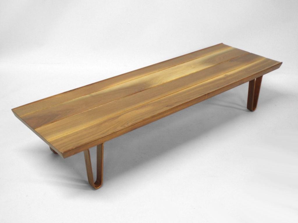 A short john walnut cocktail table bench by edward wormley for Cocktail table with 4 benches