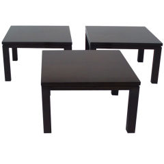 Three-Piece Dark Finish Coffee Table