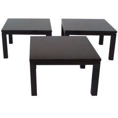 Three-Piece Dark Finish Coffee Table