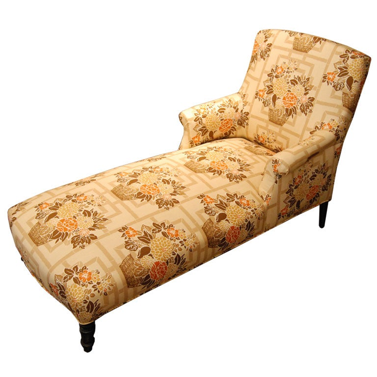 Napoleon iii style chaise longue at 1stdibs - Chaise longue cuir fly ...