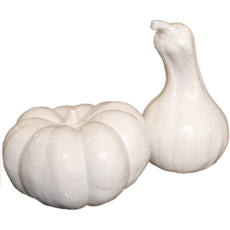 Two Italian Decorative Vegetables Sculptures For Sale