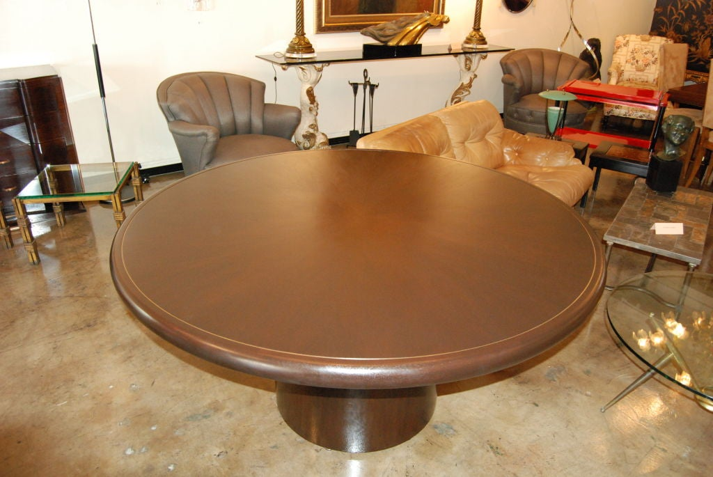 Mid-Century Modern Edward Wormley for Dunbar Round Dining or Center Table For Sale