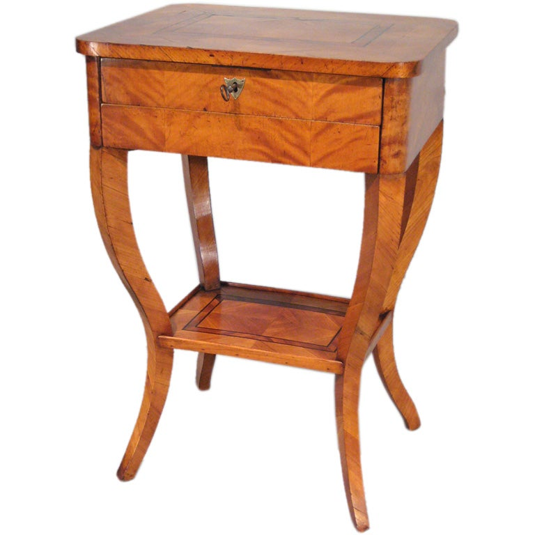 This antique french cherry side table is no longer available - 19th Century Biedermier Side Table At 1stdibs