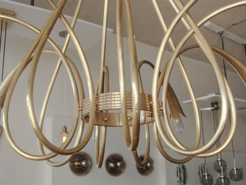 Mid-20th Century Gio Ponti Chandelier For Sale