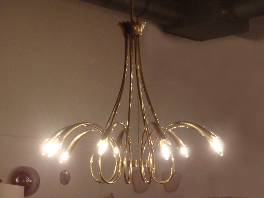 Italian Gio Ponti Chandelier For Sale