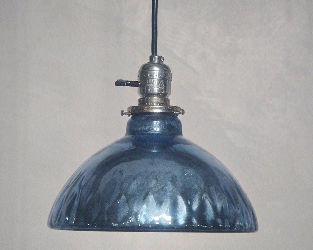 Blue Mercury Glass Pendant Lights 2