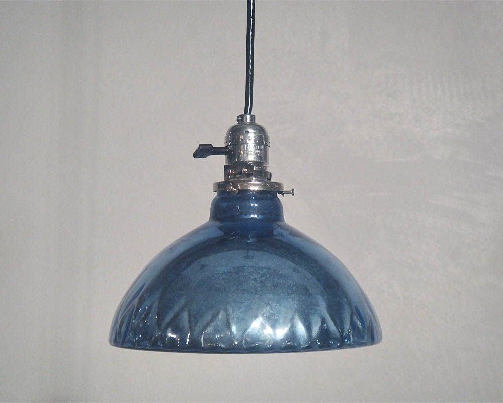Blue Mercury Glass Pendant Lights 3