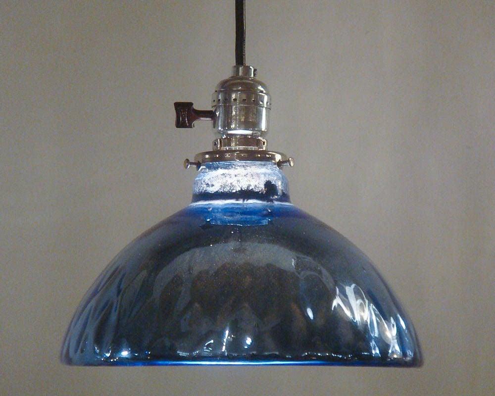 Blue Mercury Glass Pendant Lights 5