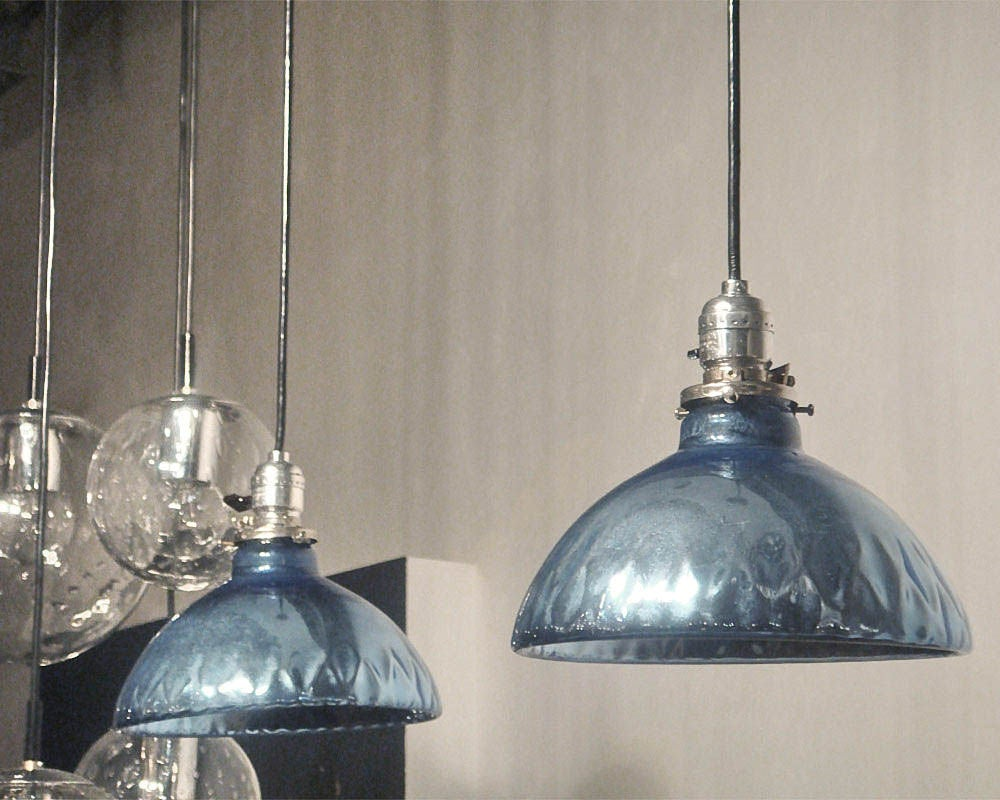 Blue Mercury Glass Pendant Lights 6
