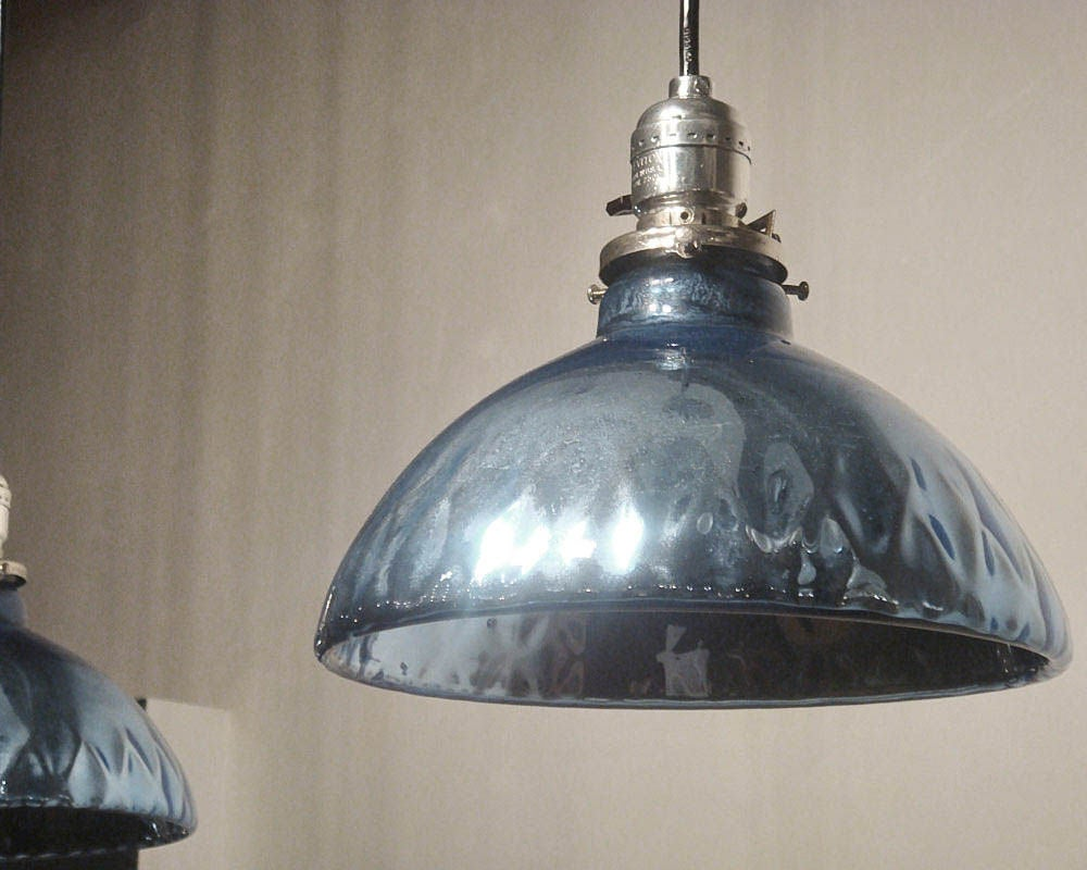 Blue Mercury Glass Pendant Lights 7