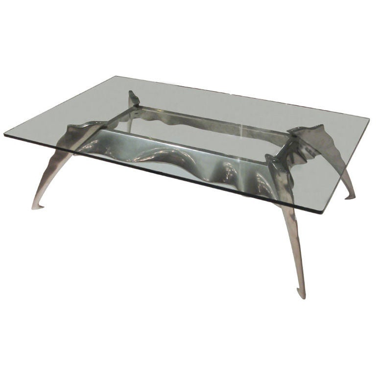 Cast Aluminum Coffee Table At 1stdibs