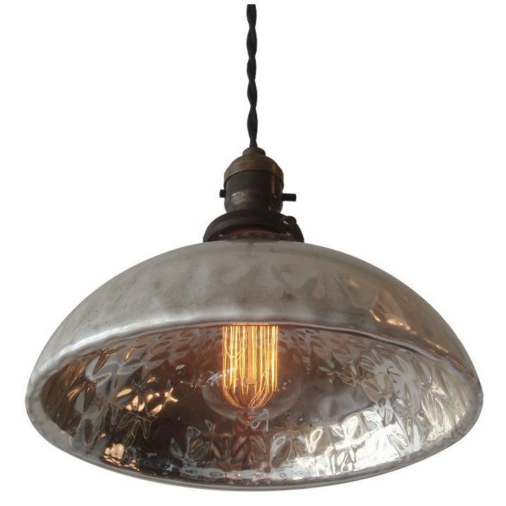 Mercury Glass Pendant Light at 1stdibs