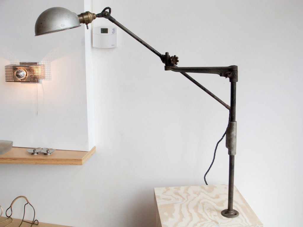 O.C. White Industrial Task Lamp For Sale at 1stdibs
