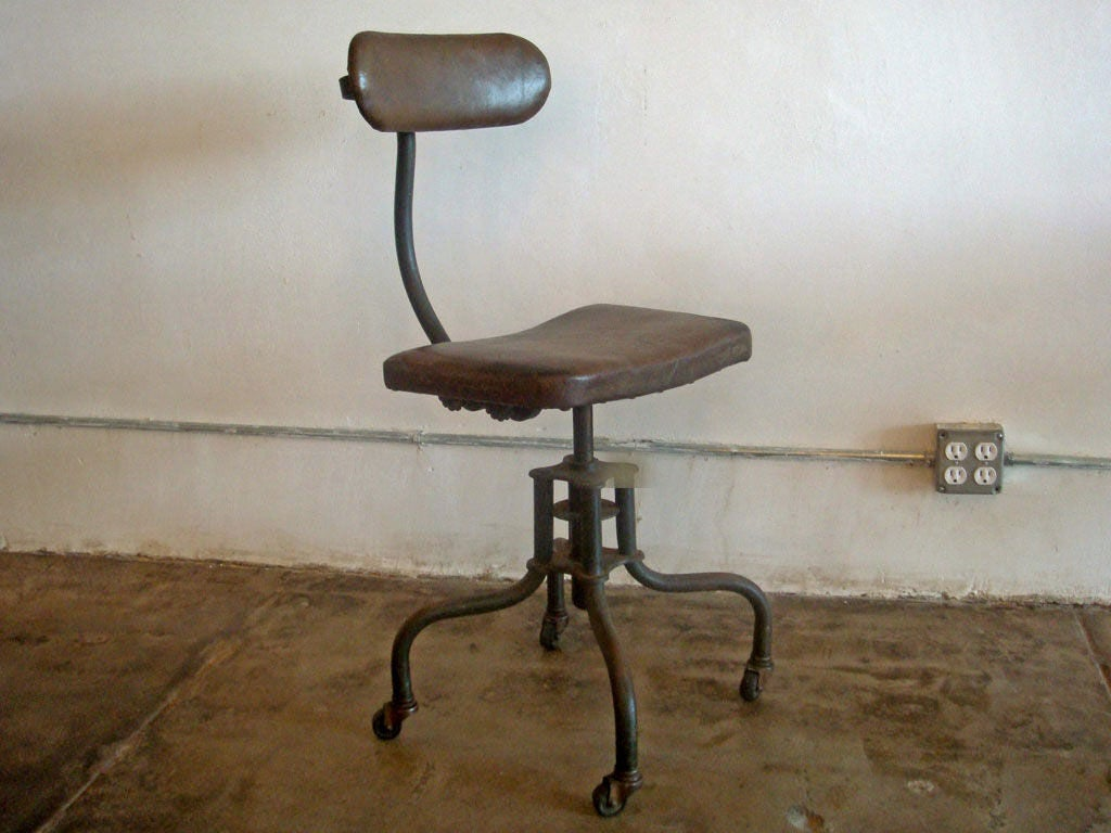 Industrial Drafting Table And Chair Image 4