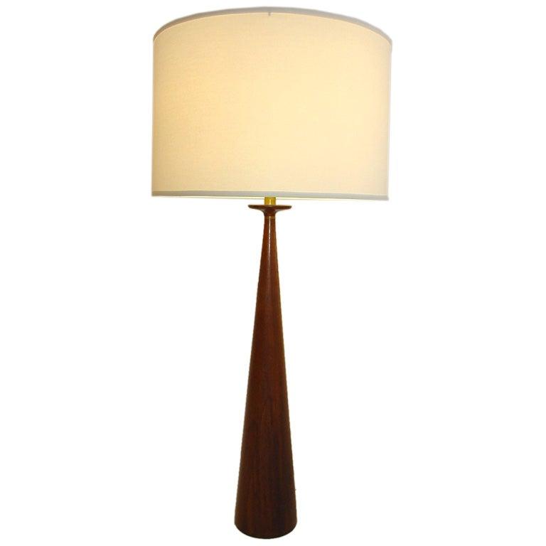 monumental mid century wood lamp at 1stdibs. Black Bedroom Furniture Sets. Home Design Ideas