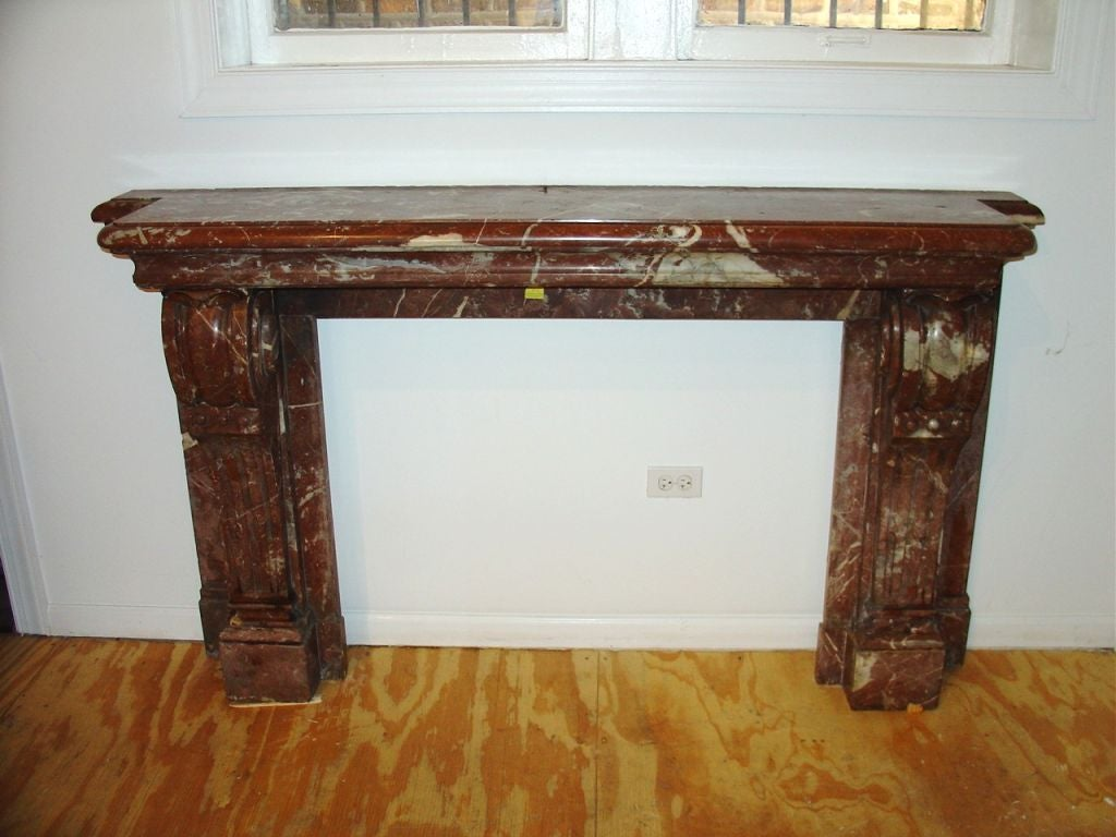 19th Century French Marble Fireplace Mantel At 1stdibs