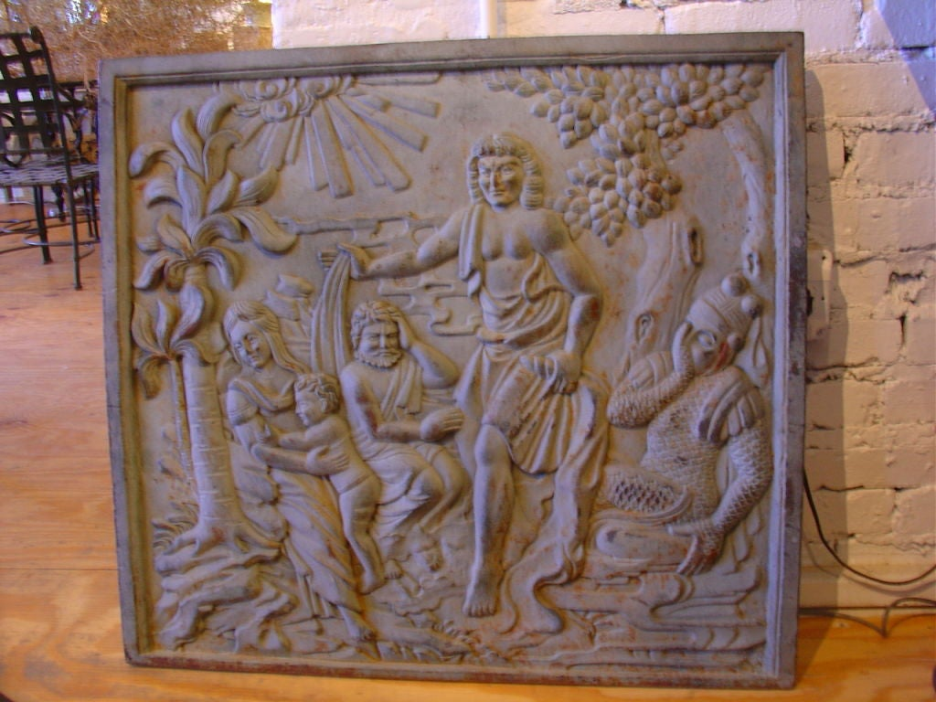 Decorative Cast Iron Panel At 1stdibs
