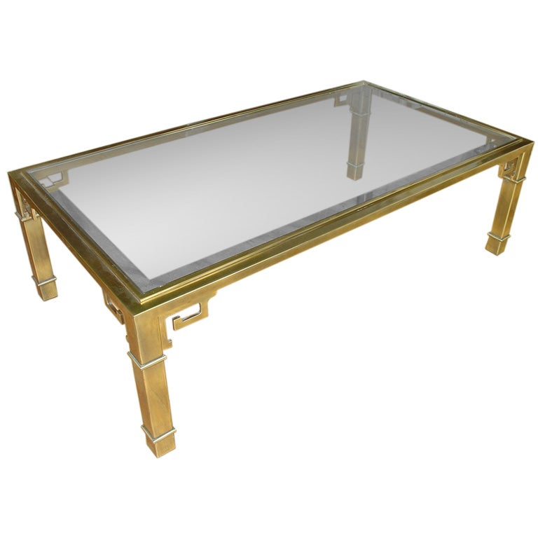 Mastercraft Brass Asian Coffee Table At 1stdibs