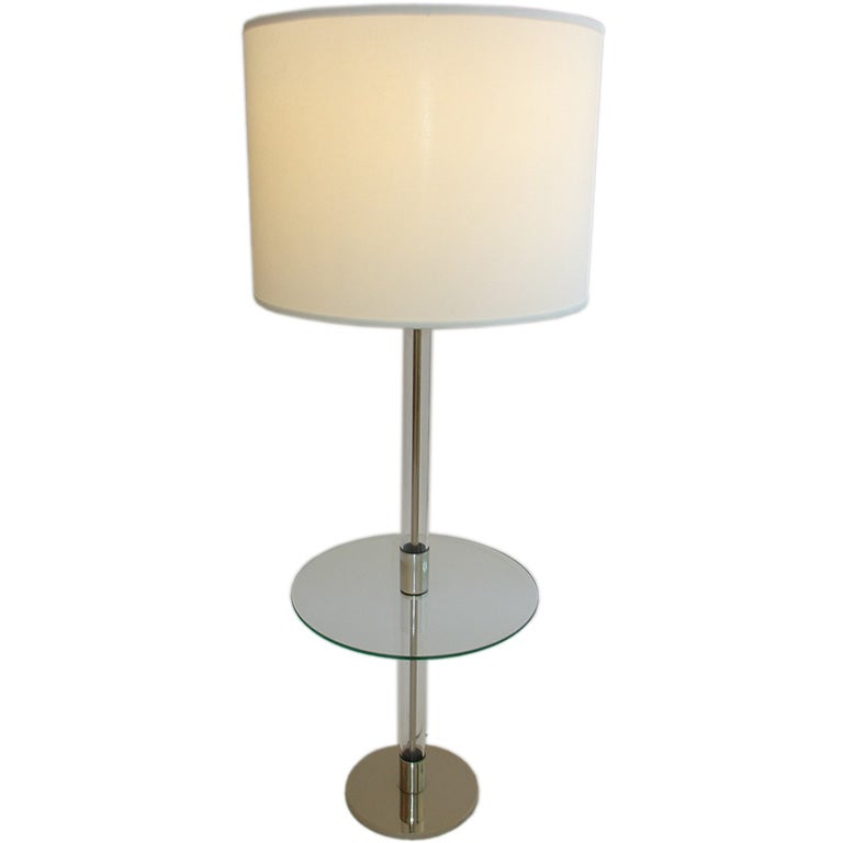 Chrome and glass floor lamp at 1stdibs for Floor lamps chrome and glass