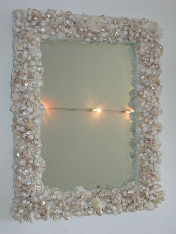A substantial well crafted Shell Mirror.
