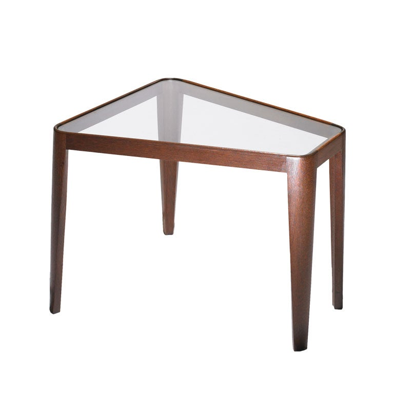 WedgeShaped end table model 4809 by Edward Wormley at 1stdibs