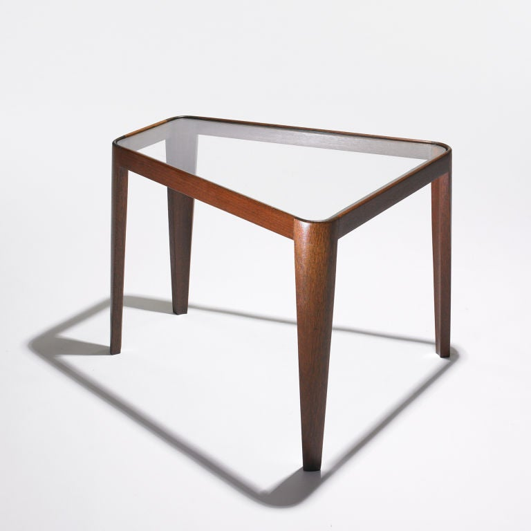 Wedge Shaped End Table Model 4809 By Edward Wormley At 1stdibs