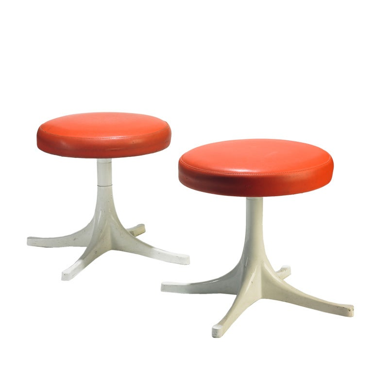 Stools Pair By George Nelson And Associates At 1stdibs
