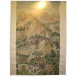 Very fine 18th Century Chinese handpainted wallpaper