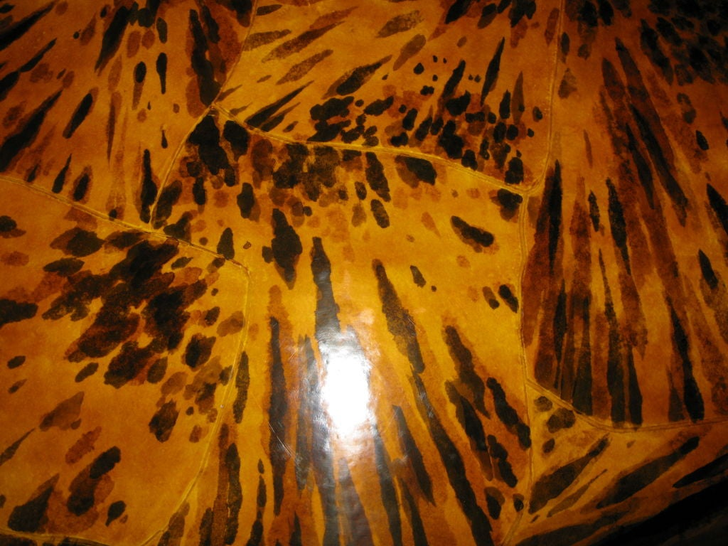American Lacquered faux tortoise shell coffee table For Sale
