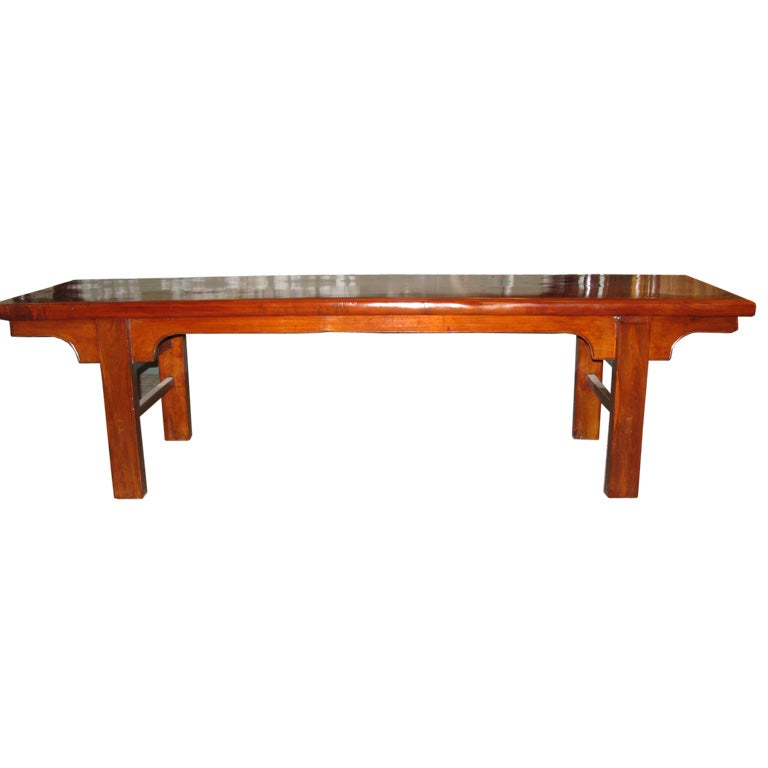 C 1800 Chinese Wooden Bench At 1stdibs