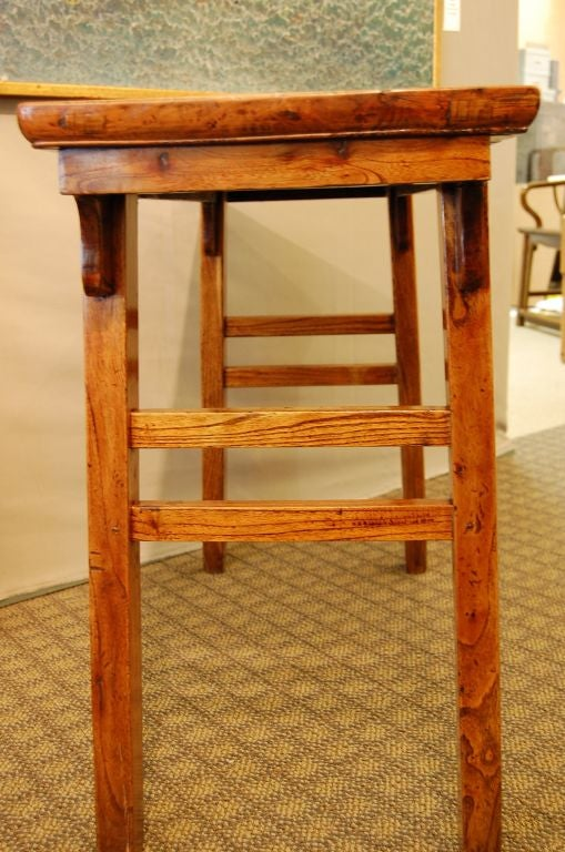 18th Century Chinese Elmwood Side Table with Elegant Lines For Sale 3