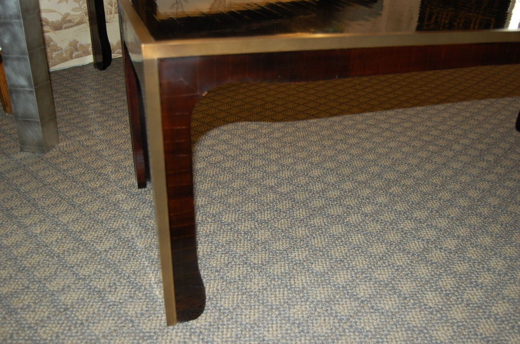 Ming Style Coffee Table In Cashew Lacquer Finish With