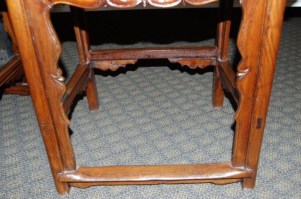 Pair of 18th Century Chinese Wooden Side Chairs For Sale 4