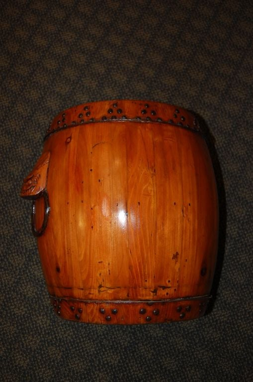 Chinese Wooden Rice Storage Barrel C 1900 At 1stdibs