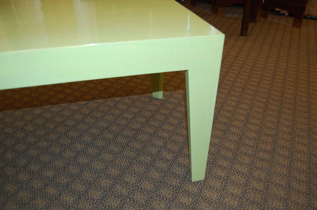 Modified Parsons Table In Green Cashew Lacquer For Sale At