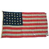 34 STAR AMERICAN FLAG, 1861-63, CIVIL WAR PERIOD